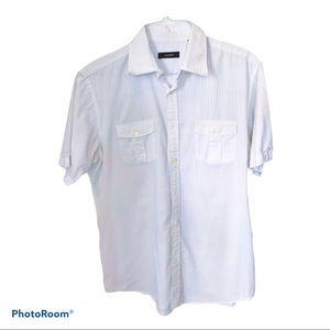 Alfani White Casual Button-Down Short sleeve L